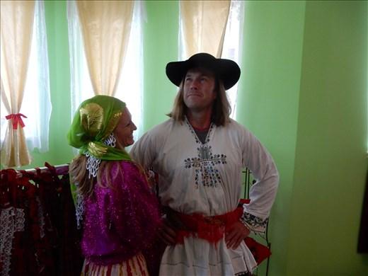 Dressed up like true gypsies.