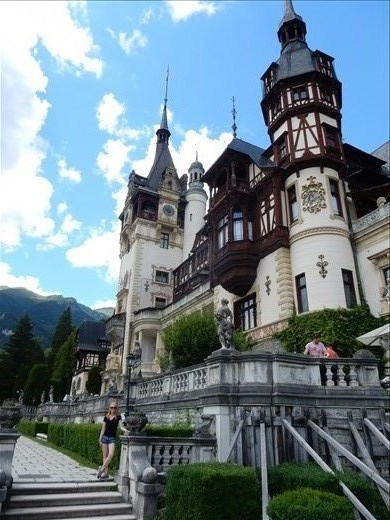 Peles Castle is known as one of the most beautiful castles in Europe. Located in the Carpathian Mountains near the town of Sinaia construction began in 1873 and took ten years to build and was one of the most modern of its time.