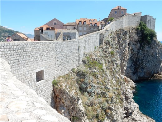 Outside the walls of Old Town Dubrovnik.