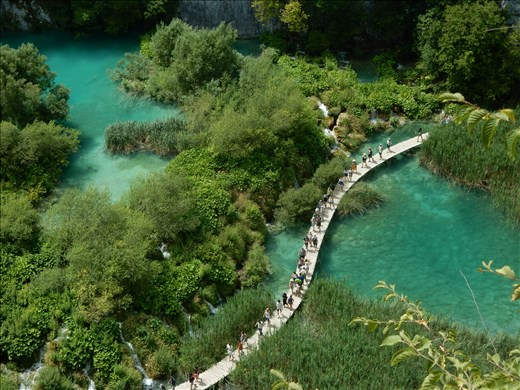 Plitvice National Park. A choice of four different trails mostly on narrow boardwalk.