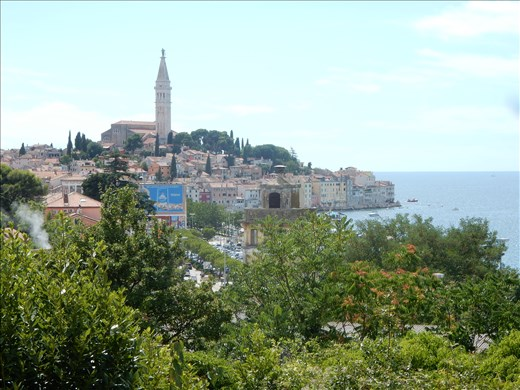 Wine tasting in the town of Rovinj.