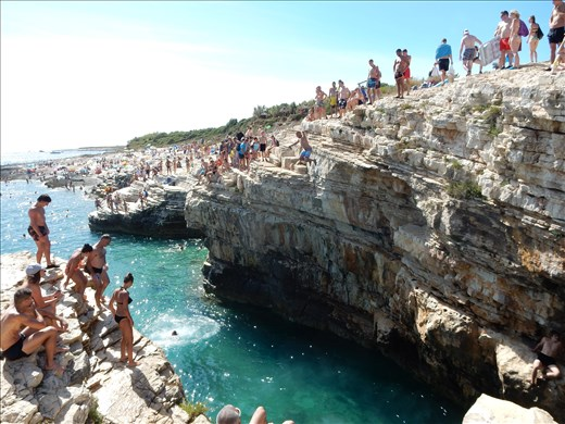 Spent a good part of the day watching people throw themselves off cliffs.