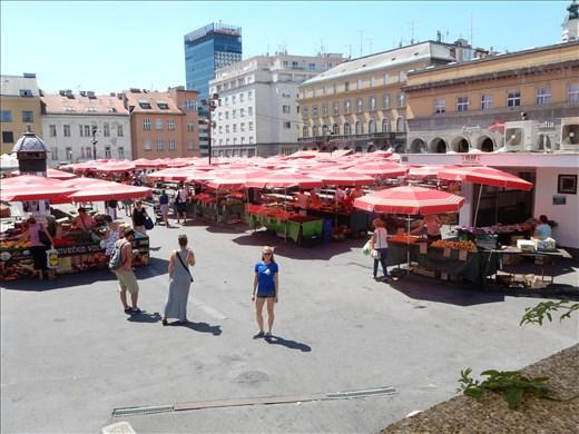 Dolac (Green) Market in Zagreb.