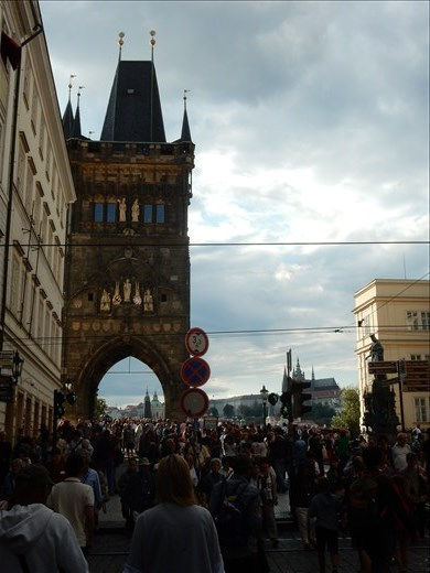 Crossing the Charles Bridge was a tourist nightmare.