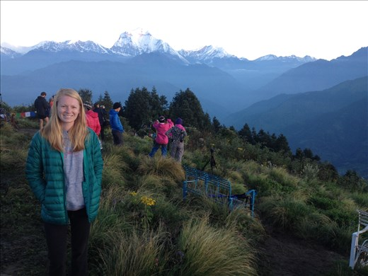 Woke up at 4:30 am to climb 45 minutes of stairs to catch a sunrise view of the mountains on Poon Hill.