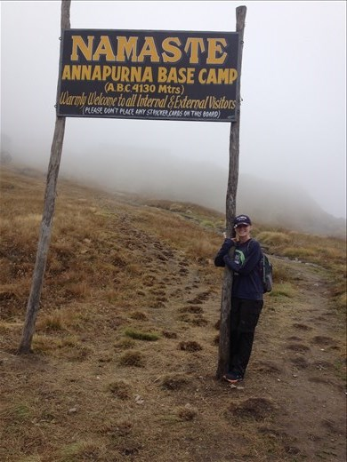 After many days of trekking we arrived at the Annapurna Base Camp or aka ABC.