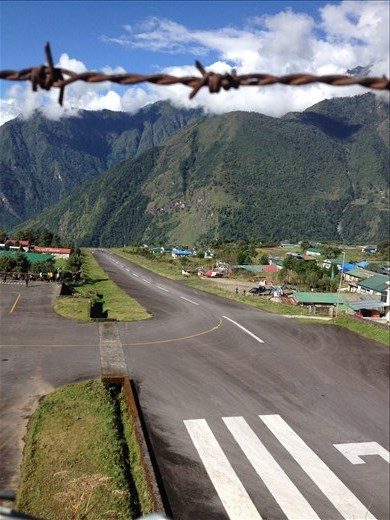 Flying into one of the worlds most dangerous airports Tenzing-Hillary Airport in Lukla to begin our next trek to Gokyo Ri.