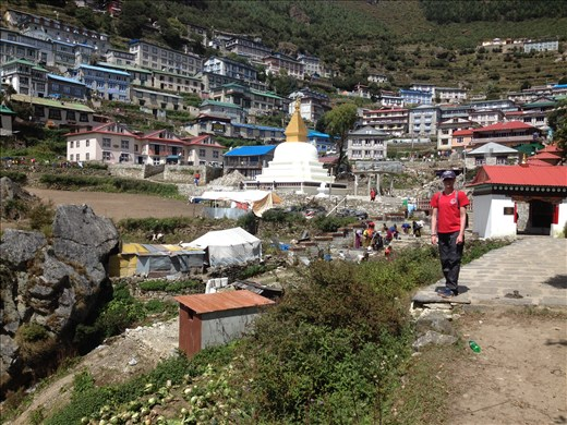 First village checkpoint Namche Bazaar. Had to spend two nights here to acclimate.