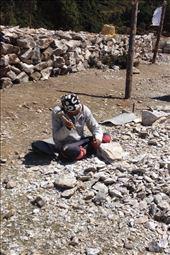 Worker chiseling rock into block. : by danidawnandstevo, Views[80]