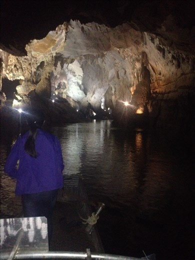 The river inside the cave is nearly 9 miles long.