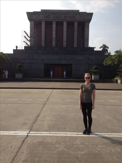 City tour in Hanoi and the revolutionary leader Ho Chi Minh's final resting place. He's know in these parts as Uncle Ho.