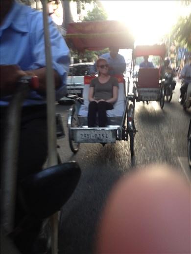 A bike ride through the streets of Hanoi.