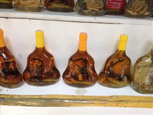 This popular drink is said to improve your libido. It's rice wine that contains a cobra and a scorpion.