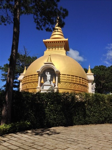Thien Vien Truc Lam Buddhist temple in Da Lat.