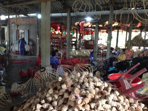 Toured Ha Linh lantern factory where everything is handmade.
