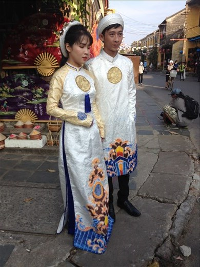 Lots of weddings happening in Old Town Hoi An.