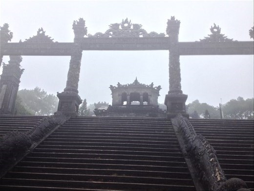 Tomb of Emperor Khai Dinh located in Chau Chu mountain near Hue. He was the twelfth emperor of the Nguyen Dynasty.