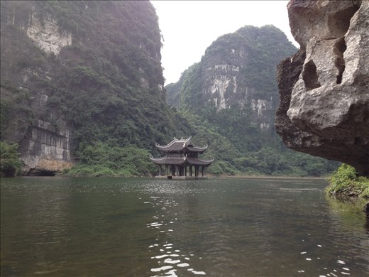 Boating on the Sao Khe river in Trang An with its many temples and caves.