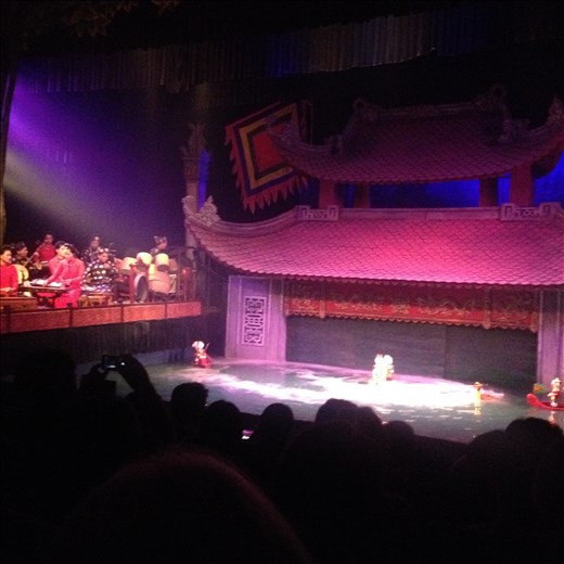 Hanoi water puppet show was interesting.