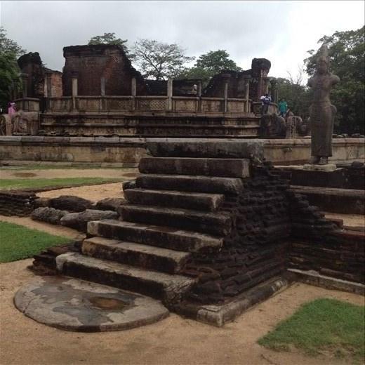 Vatadage Temple built between 1153 - 1186 A.D.