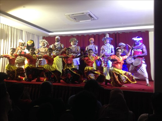 A cultural dance performance.