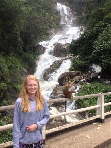 Rawana Falls and some very aggressive monkeys.