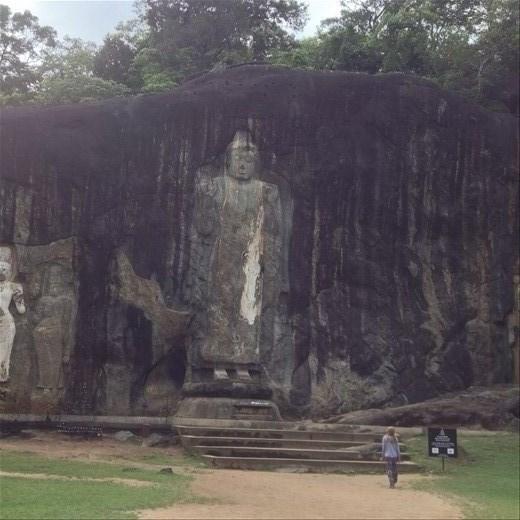 Buduruwagala ancient temple.