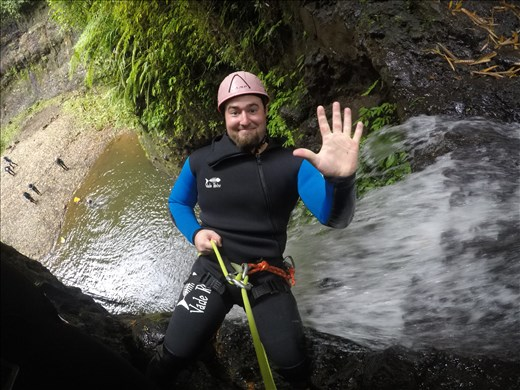 Canyoning adventure.