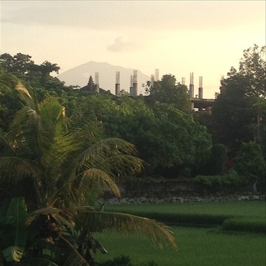 Mt. Agung coughing up some smoke