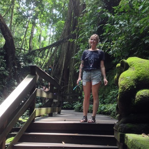Tori at the Monkey Forest