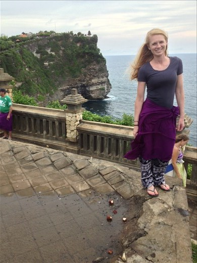 Uluwatu Sea Temple perched up high on a cliff