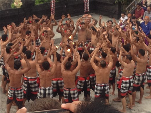 Kecak dance show at the temple