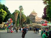 el zócalo and the cathedral in the background. this is the center of town: by danielapuebla, Views[205]
