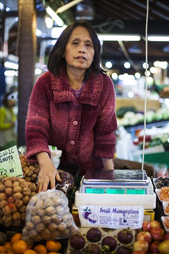 While full of affable characters Fremantle is also home to many cultures. Ms Fan who is from China is one of the local fresh food market sellers.