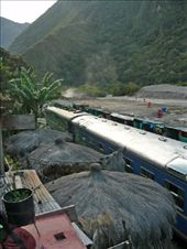 Train station at Hidroeletrica...thank goodness for this train to get us to Aguas Calientes: by daniryan, Views[174]