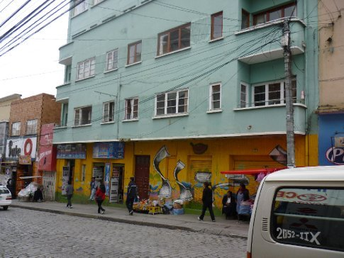 My apartment in La Paz (first floor, on the right)