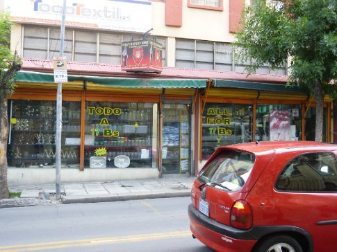 A dollar store (or rather, a 17 Bolivianos store)