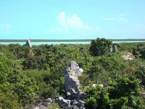 West Caicos - overlooking the ruins of Yankeetown
