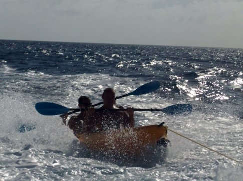 Steve and myself inventing extreme kayaking