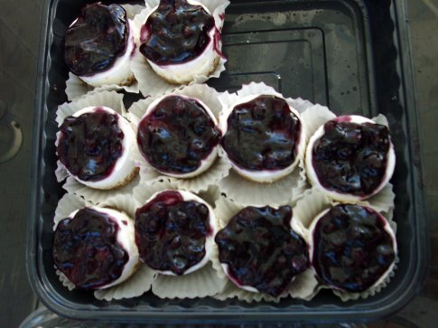 Individual cheesecakes as a mid afternoon snack