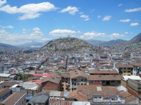 Quito - Basilica del voto Nacional - views from the bell tower
