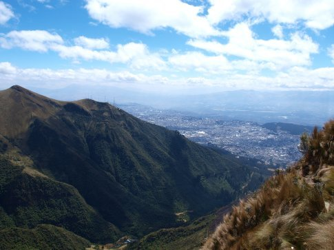 Quito - view of the city from Rucu Pichincha