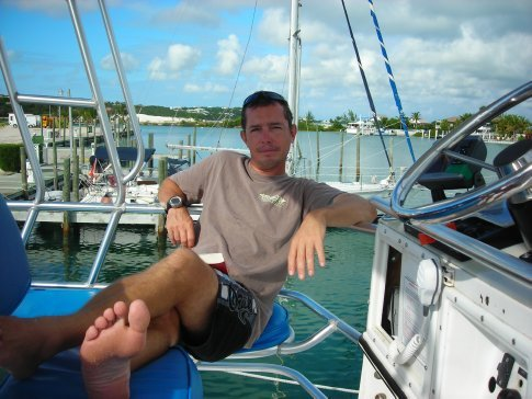 Me on Dive Provo boat