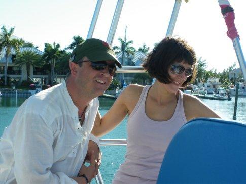 Giz & Lidia on Dive Provo boat