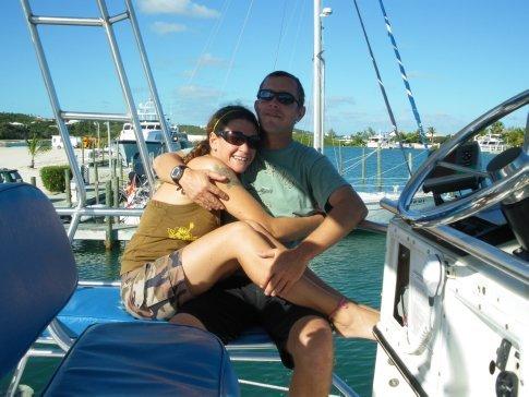 Me & Josie on Dive Provo boat