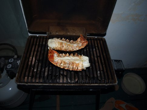 The king of all BBQ's - course 1 Lobster Tails