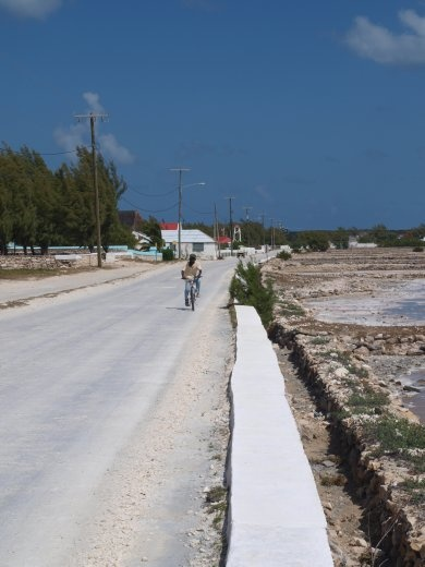 The main road in Salt Cay