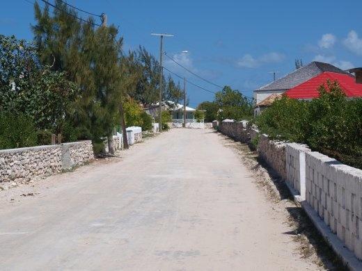 Salt Cay roads