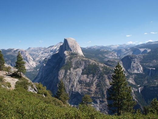 Yosemites - Half Dome (viewed from Sentinel Dome)