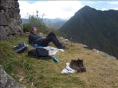 Machu Picchu - chillin' on the terraces: by dannygoesdiving, Views[259]